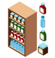 3d design for shelves full of products vector image