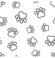 animal paw print seamless pattern background vector image vector image