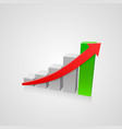 arrow red business growth art info vector image