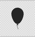 balloon with ribbon icon on transparent background vector image vector image