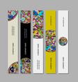 banners design ethnic mandala vector image vector image
