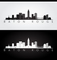 baton rouge usa skyline and landmarks silhouette vector image