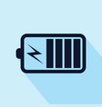 battery charging icon isolated on white background vector image vector image