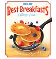 Best Breakfasts Vintage Advertisement Poster vector image