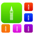 big ben clock set collection vector image vector image