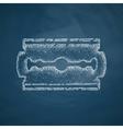 blade razor icon vector image vector image