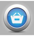 blue button - shopping basket minus vector image vector image