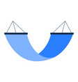blue swing bed or hammock simple icon isolated on vector image vector image