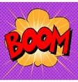 Boom explosion text description in the style of vector image vector image
