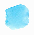 Bright blue watercolor spot