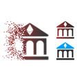 broken pixel halftone ethereum bank building icon vector image vector image