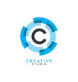 c letter logo icon vector image vector image