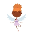 Cartoon cute cupid angel smile girl kid