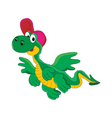 cheerful cartoon dragon vector image vector image