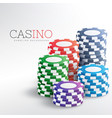 colorful casino chips background vector image