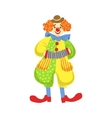 Colorful Friendly Clown Playing Accordion In vector image vector image