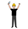 construction worker with spatula avatar vector image vector image