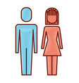 couple business man and woman standing vector image vector image