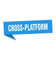 cross-platform speech bubble cross-platform vector image vector image