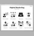 data analytics icons solid pack vector image