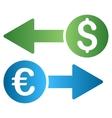 Dollar Euro Transactions Gradient Icon vector image vector image