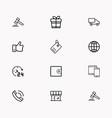 e-commerce line icon set vector image