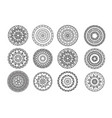 ethnic decorative elements vector image