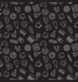 fast food dark seamless pattern vector image