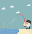 fishing for idea vector image vector image