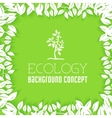 Flat design of ecology environment green clean vector image