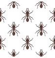 flat style seamless pattern with ants vector image