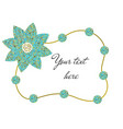 frame of beads and flower vector image vector image
