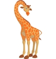 Funny giraffe vector image