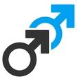 Gay Sex Flat Icon vector image vector image