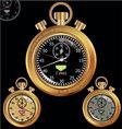 golden stopwatch vector image vector image