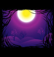 halloween night background concept with scary vector image vector image