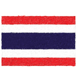 hand drawn of flag of Thailand vector image vector image