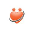 heart icon logo vector image vector image