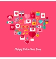 Heart Shape Valentine Day Objects vector image vector image