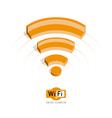 Isometric symbol Wi Fi vector image