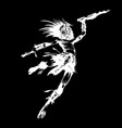 jumping tribal warrior with a blade and amazing vector image