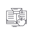 knowledge learning line icon concept knowledge vector image vector image