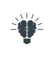 lamp brain concept logotype template design vector image