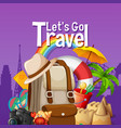 lets go travel template vector image vector image