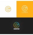 letter G logo alphabet design icon set background vector image vector image