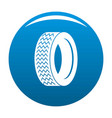 machine tire icon blue vector image vector image