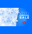 minimalist style merry christmas sale banner with vector image