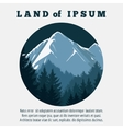 Mountain and pine forest travel banner vector image vector image