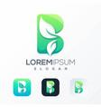 natural b leaf logo design ready to use