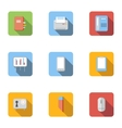 Office icons set flat style vector image vector image